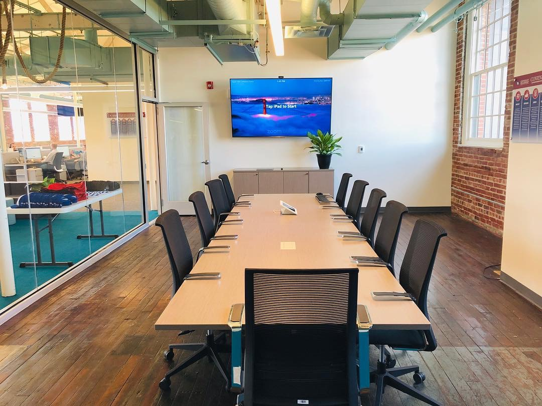 Covenant Solutions - Adaptive Re-Use | OfficeCovenant Transport is a forward thinking + fast paced logistics organization. We partnered with Covenant to build out a modernized space that encourages communication, collaboration, hard work + fun.