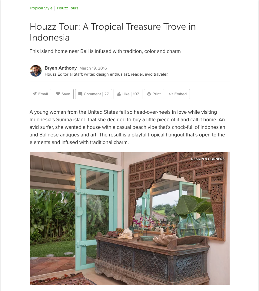 A TROPICAL TREASURE TROVE IN INDONESIA - HOUZZ TOUR