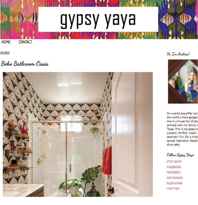 BOHO BATHROOM OASIS - GYPSY YAYA