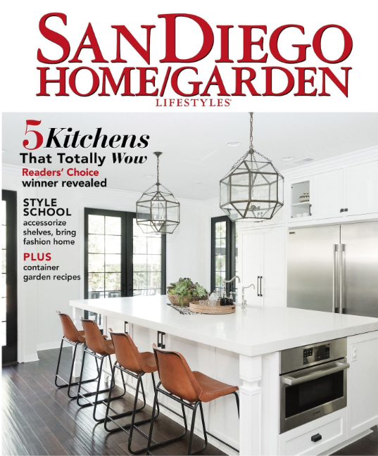 KITCHEN OF THE YEAR - SAN DIEGO HOME GARDEN LIFESTYLE COVER STORY
