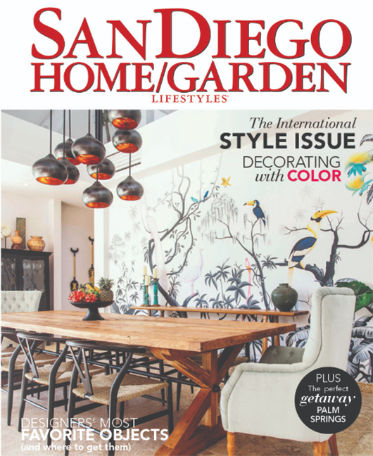 LIVING & WORKING IN PARADISE - SAN DIEGO HOME GARDEN LIFESTYLE COVER STORY