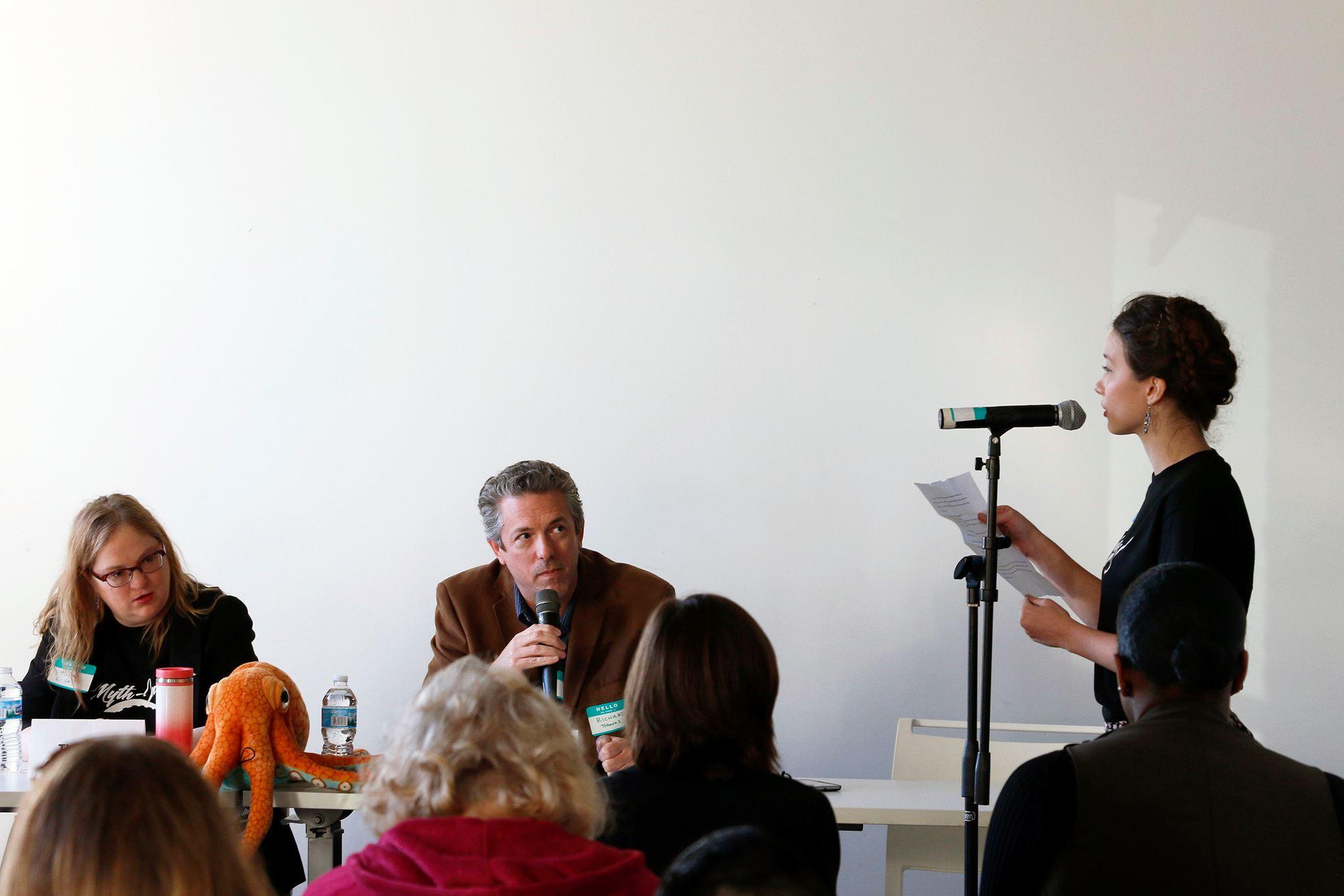 Panelist at MythInk, Columbia College, Chicago.