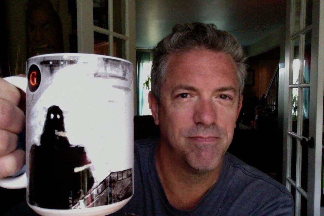 Toasting with a Gamut mug.