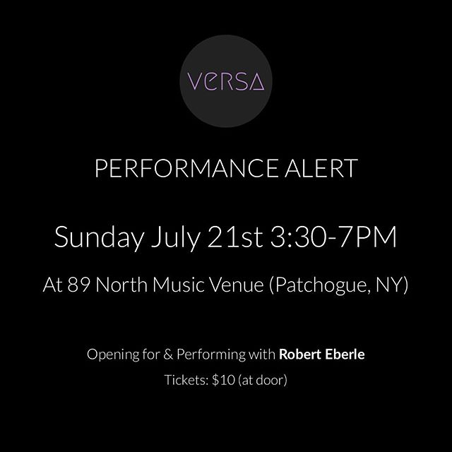 Don't miss our first performance. Stay after our set for a special performance with @roberteberle1!  Come grab a drink with us. See you then 🍻