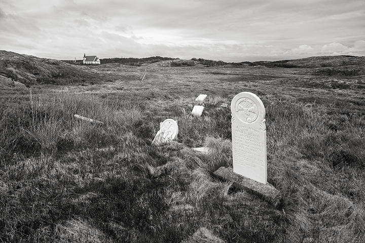 The graveyard looking back to the United Church