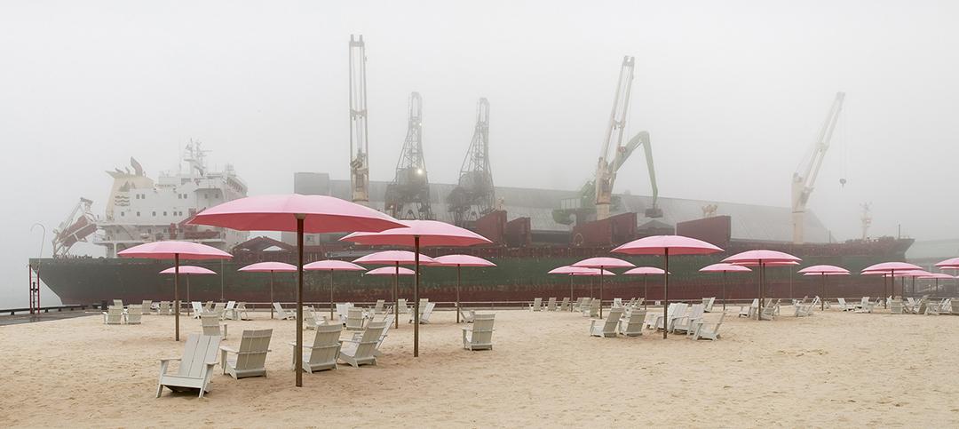 Sugar Beach in Fog