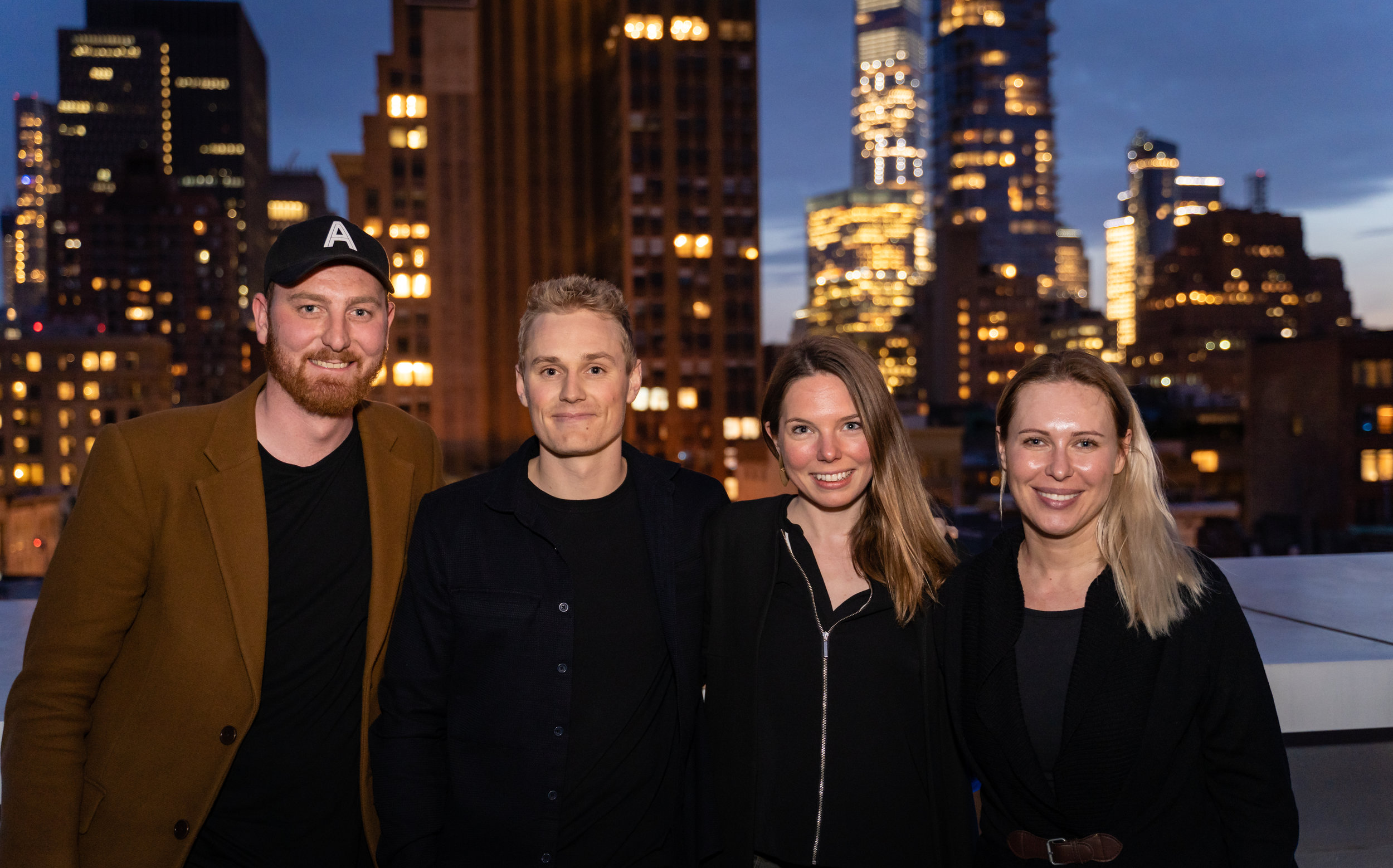 Spring 2019 Co-Founders - From left: Mikkel Steen and Anders Cederholm Nielsen, Co-Founders of Artboost, Susanne Klepsch, Co-Founder of DerButton, and Kathrin Hamm, Founder of Bearaby
