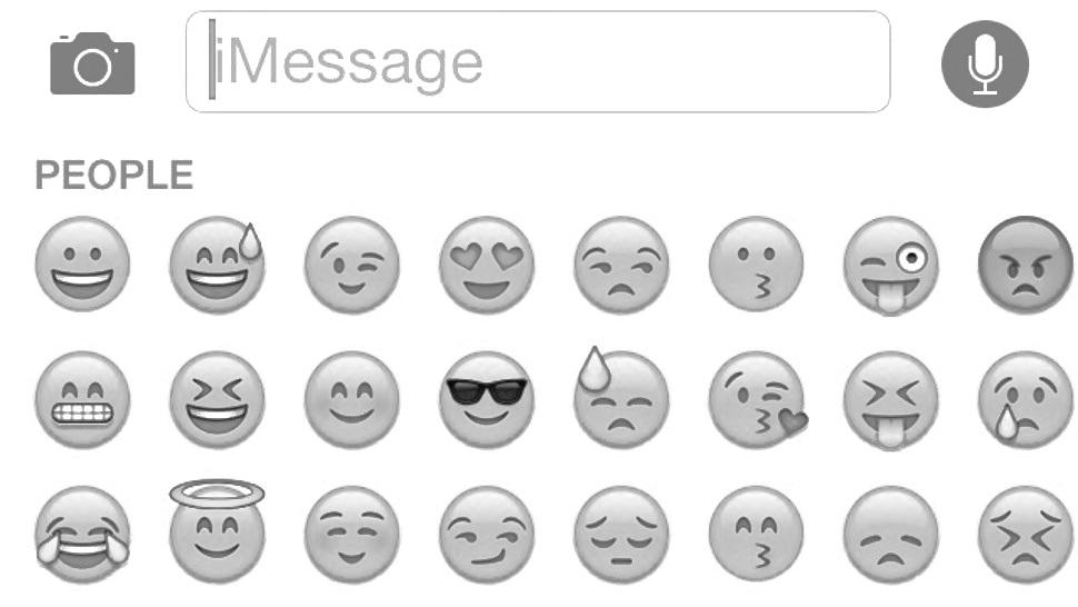 Image of emojis on a keyboard
