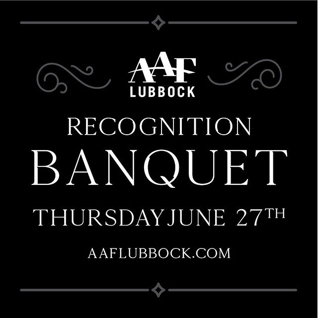 AAF Lubbock and @lubbockajmedia present the 2019 Recognition Banquet. Steve Beasley will be presented with the Silver Medal Award along with our West Texas Trailblazers winners. Plus, we will have a special recognition for all of our current members. Tickets on sale on our Eventbrite page, link in bio. . . . . . #aaflubbock #lubbockavalanchejournal #wtxtrailblazers #awards #advertising #recognition #bestofthebest #hardworkpaysoffs #aafsilvermedal #banquet #lubbocklegend #lubbock #publisher #lubbocklocal #members #thankyou