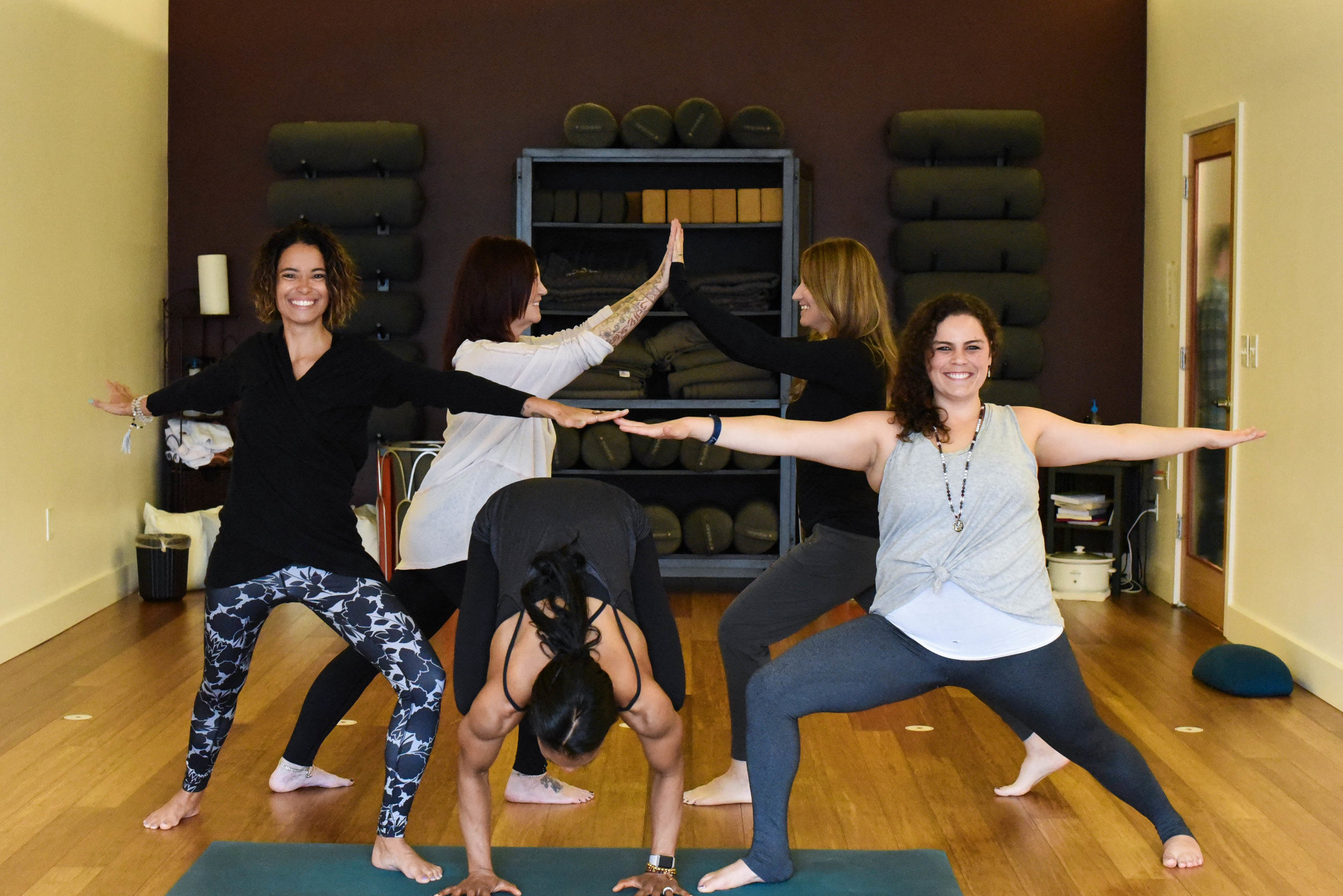 """Be a Part of Our Community - """"I so appreciate Renee's laid-back and nurturing spirit. Yoga is meant to take us to a different place, mentally and physically, and Renee definitely provides both aspects in her practice. She's also not afraid to pick up the pace and kick our booties either which we are thankful for! Overall, it's the best hour of my day and I am so happy Firestar is here in Lincoln!!!"""" - Shae Lyn B."""