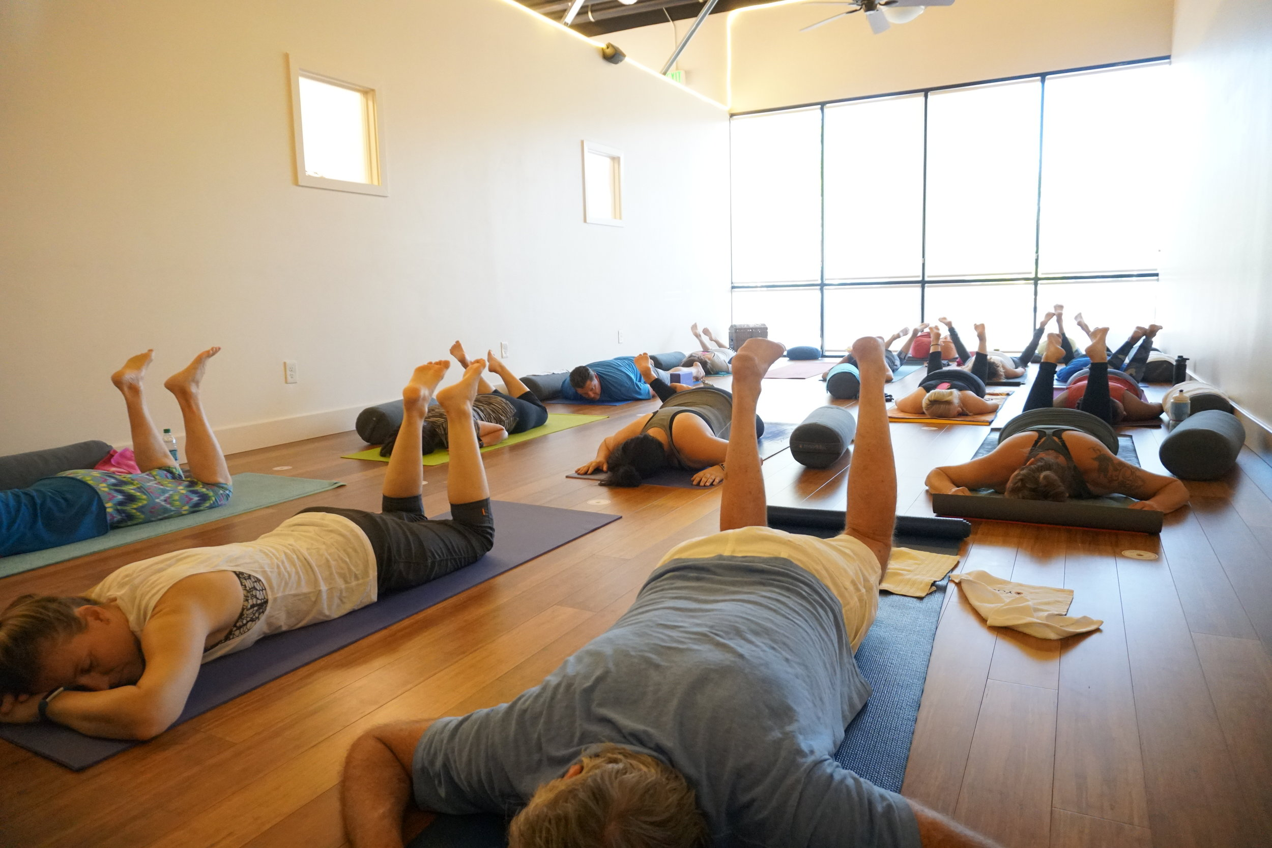 "Be a Part of Our Community - ""Best yoga studio! What a gem right here in Lincoln. I am an avid runner - and do Yin yoga 1-2 days a week to really stretch out. Renee is so wonderful and knowledgeable, and the general atmosphere is very relaxed and inviting."" - Brittany R."