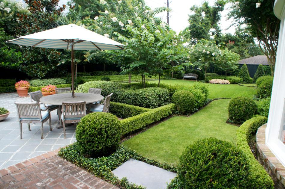 View of backyard from back door.