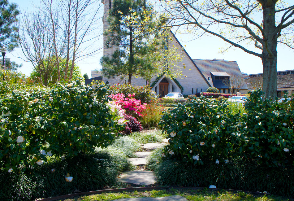 This private garden boasts an array of color and offers a tranquil setting for meditation and prayer.
