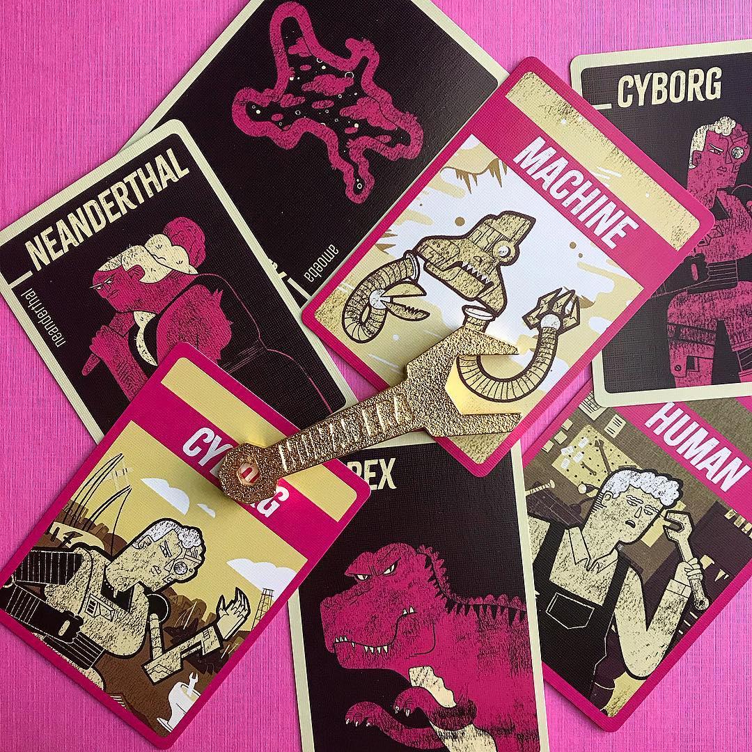Human Era board game cards