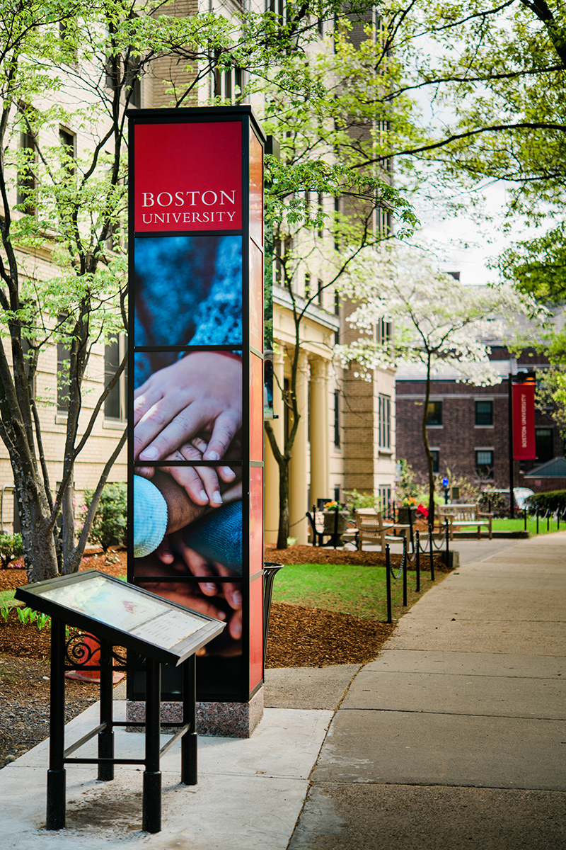 Boston University Wayfinding imagery refresh: Creative direction of overall concepts and photo shoots.