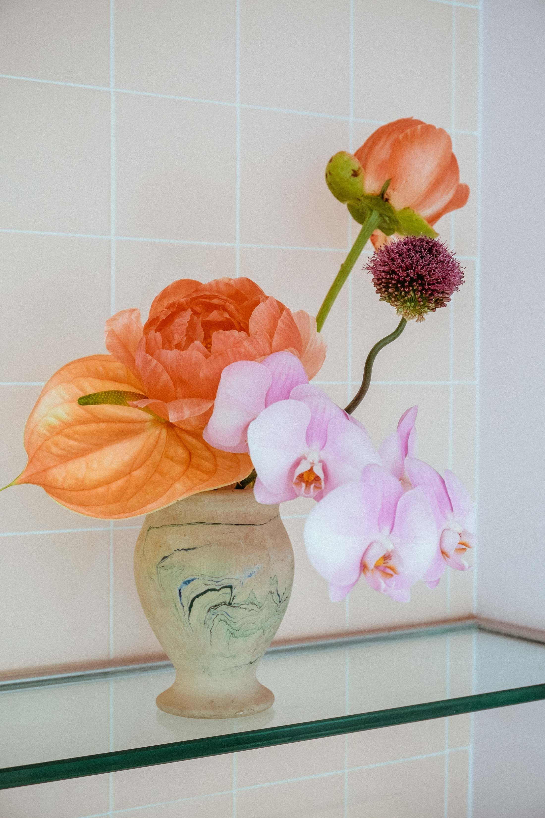 Flowers by Brittany Asch of Brrch Floral in the Glossier Showroom (1).jpeg