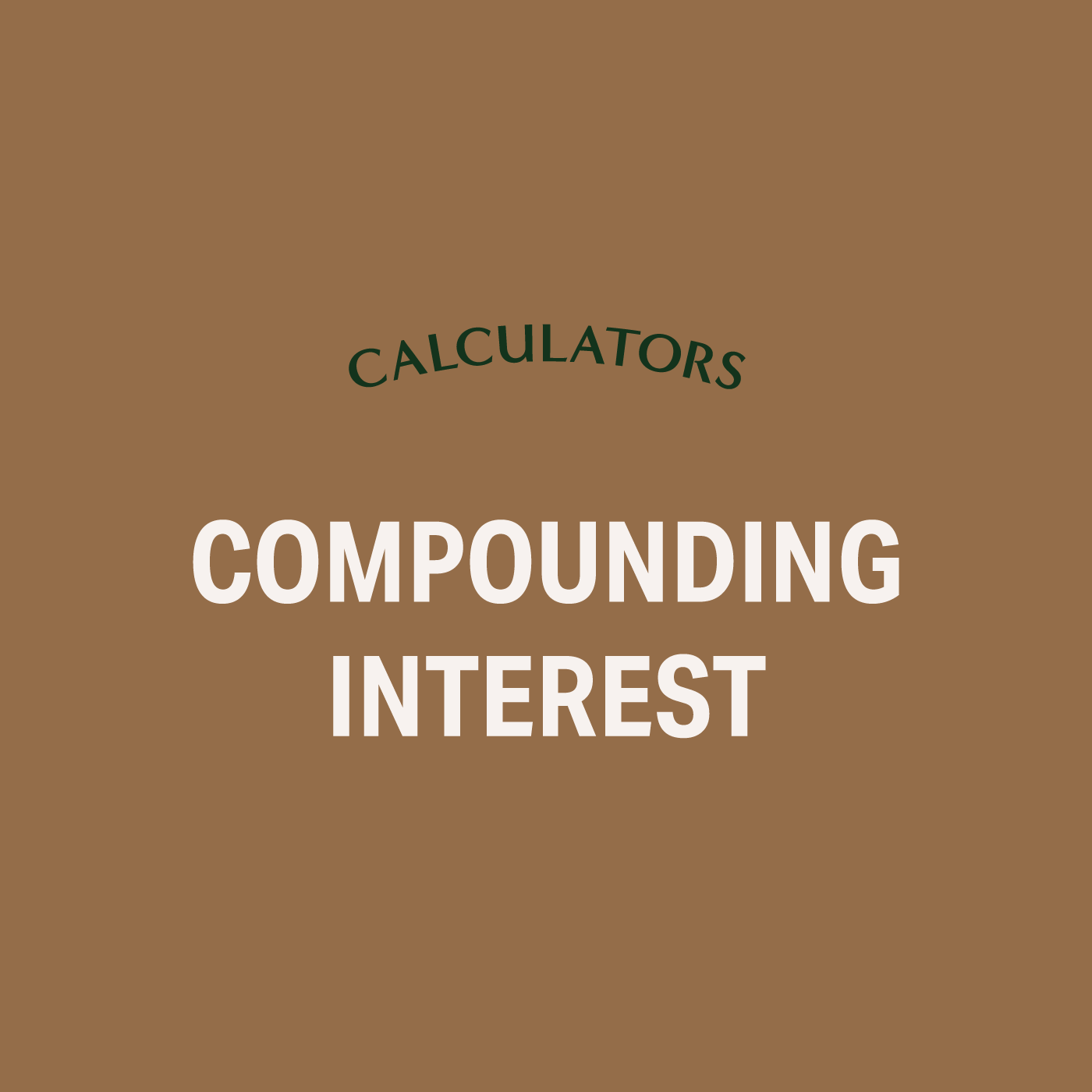 - Determine how much your money can grow using the power of compound interest. This compound interest calculator demonstrates how to put this savings strategy to work.