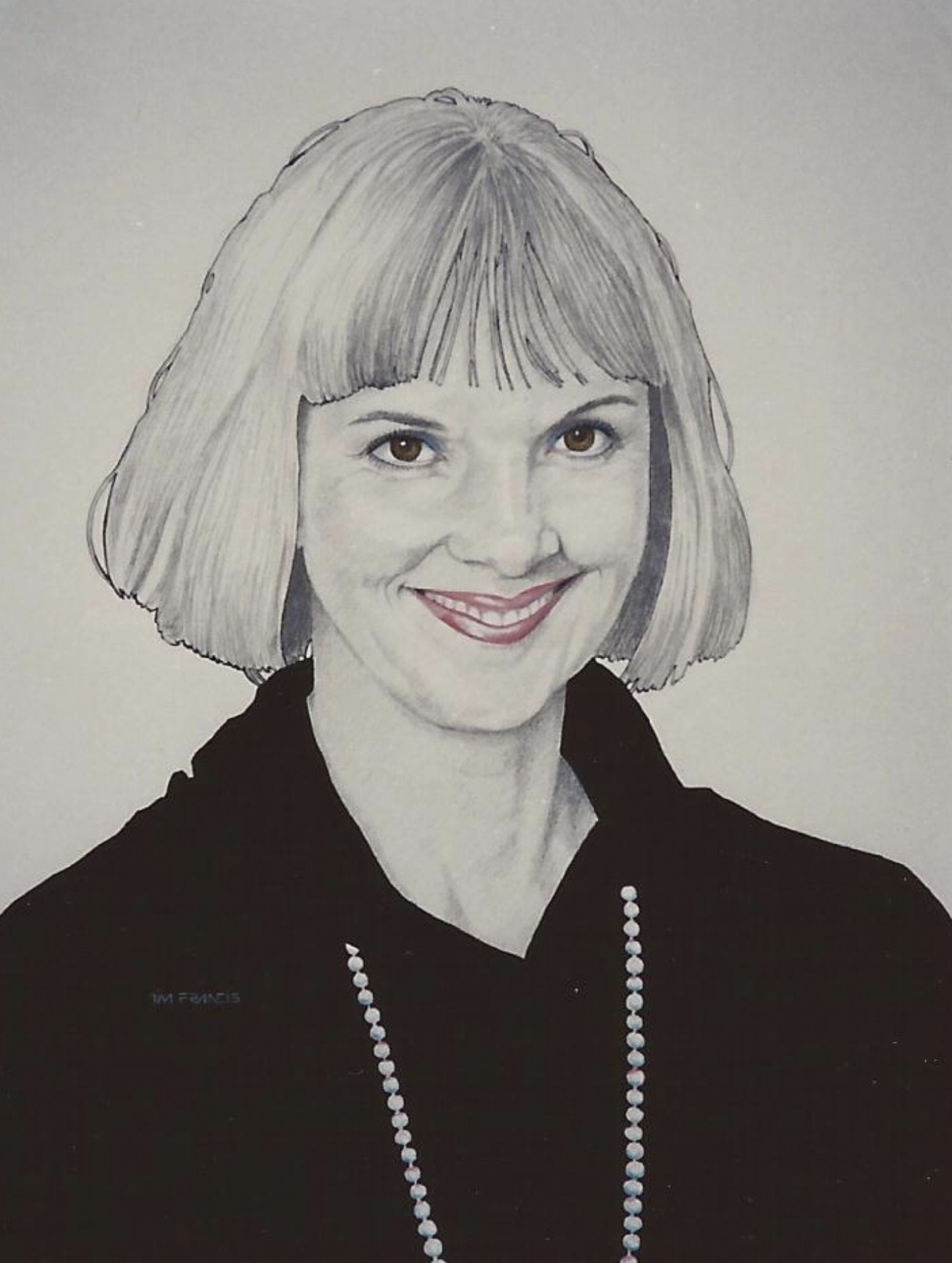 mary - 1989, Pencil and acrylic on illustration board. Private collection, Vancouver, BC