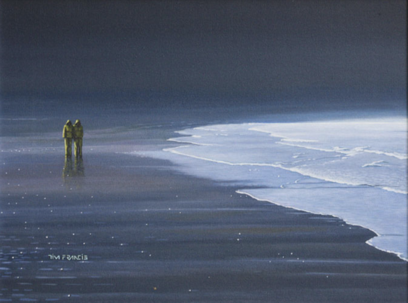 "long beach storm - 1998, Acrylic on canvas, 12x16"" Private collection, Kamloops, BC"