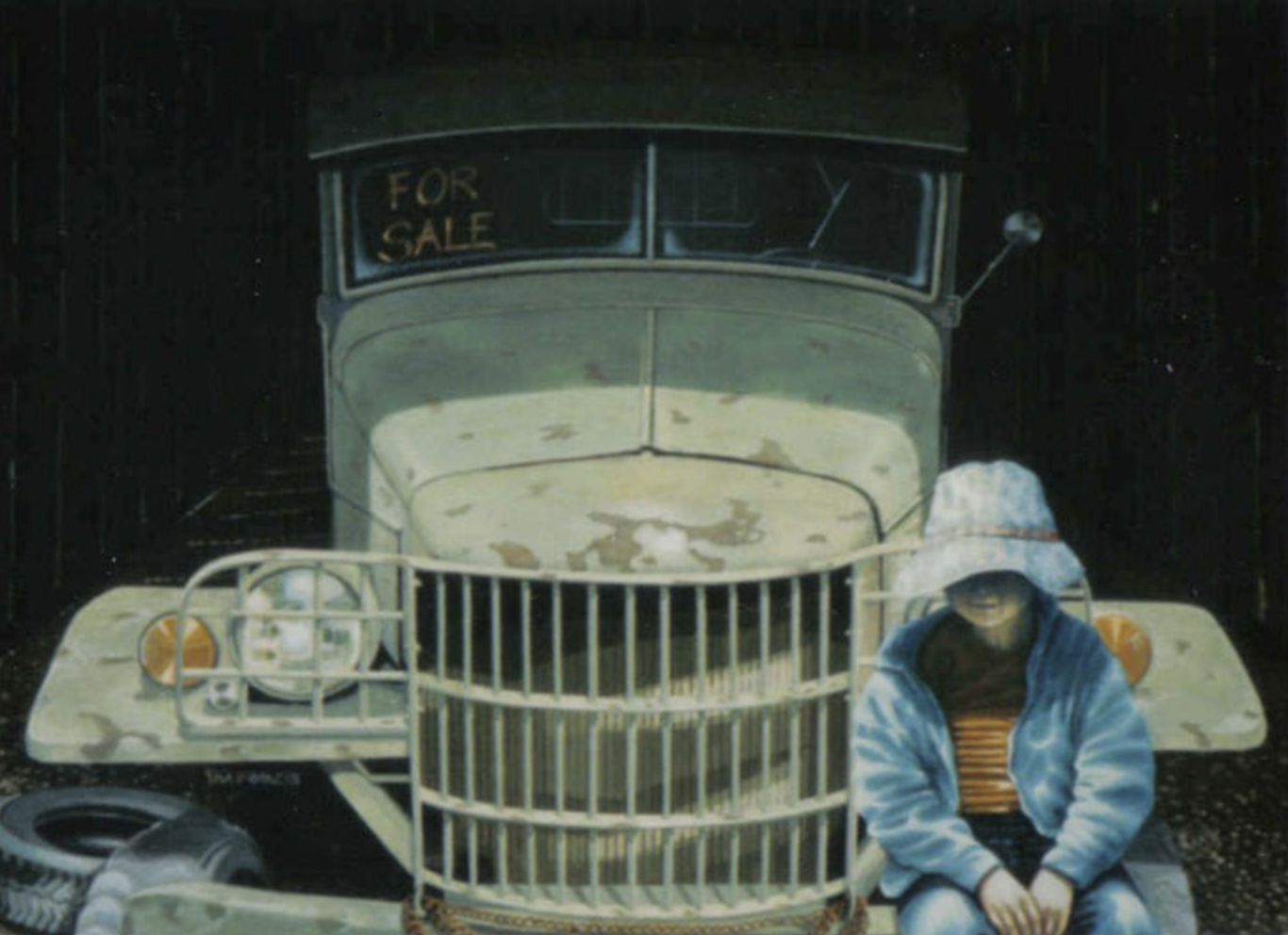 "louis' truck - 1987, Acrylic on canvas, 18x24"" Private collection, Barriere, BC"