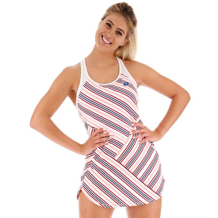 Barre Dress - White & Pink.jpg