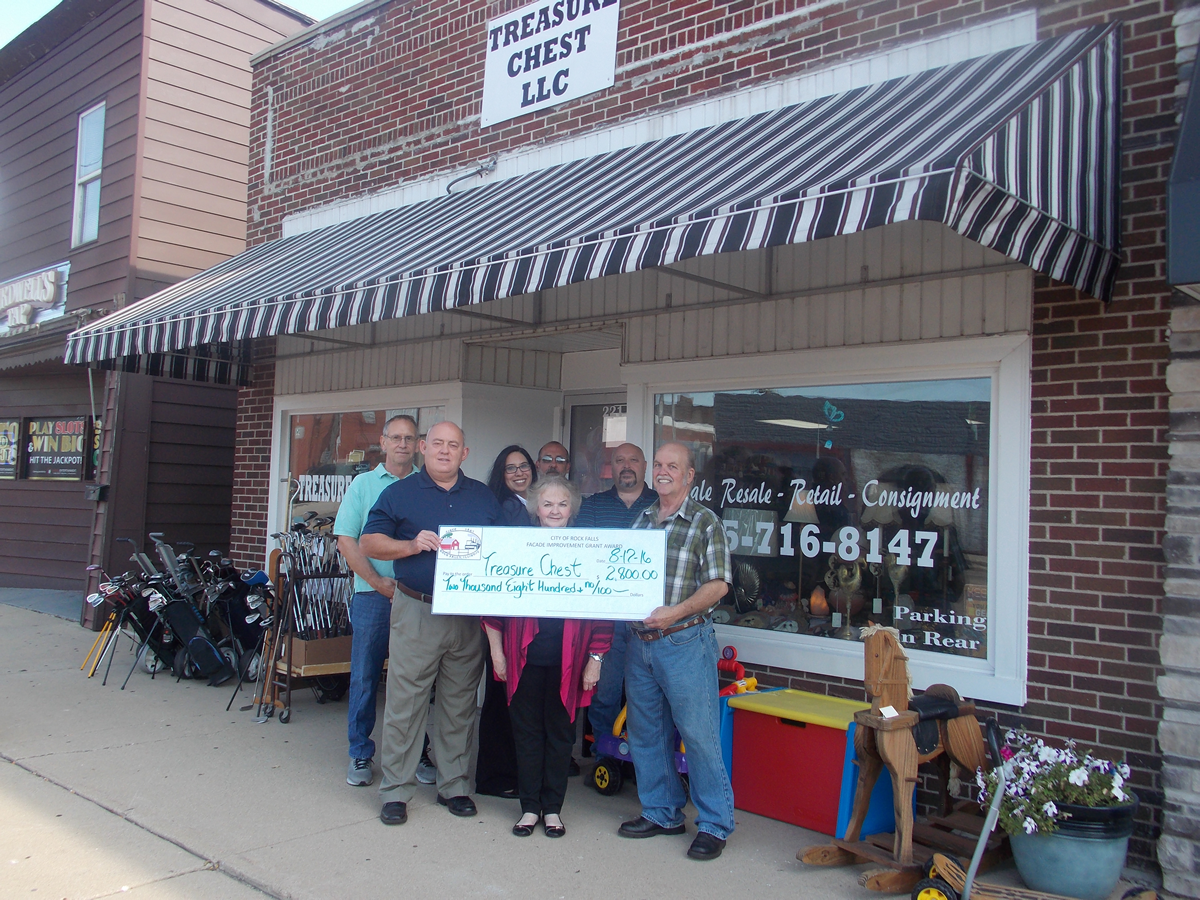 Treasure Chest Facade Grant 2016 Rock Falls Tourism.png