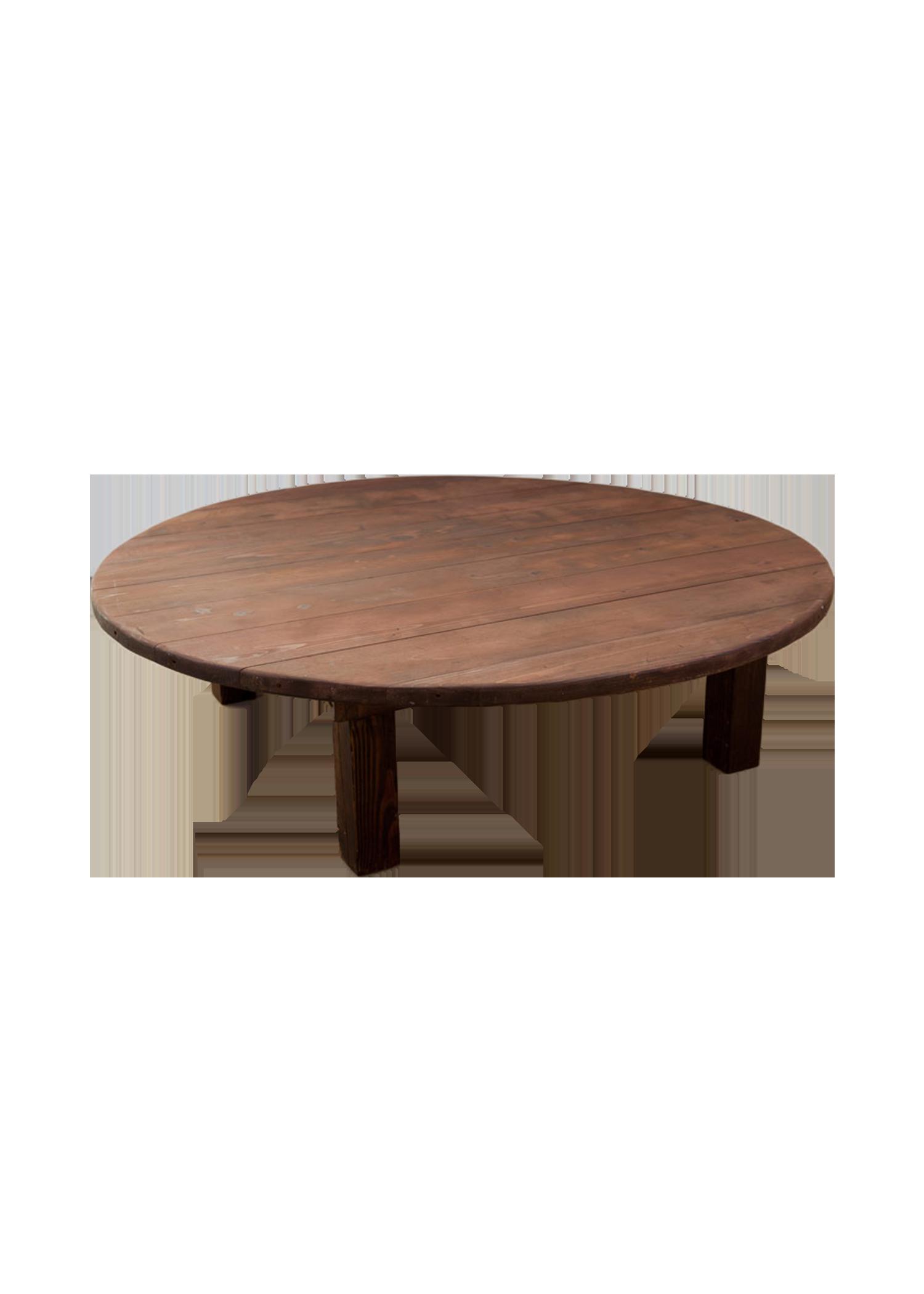 Mahogany 60in Round Boho Table