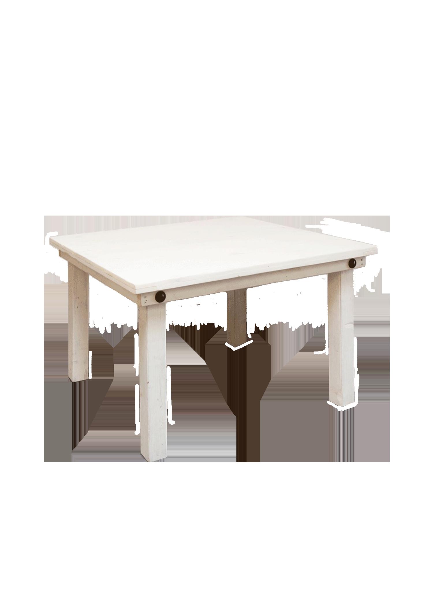 Vintage White 4ft x 4ft Table