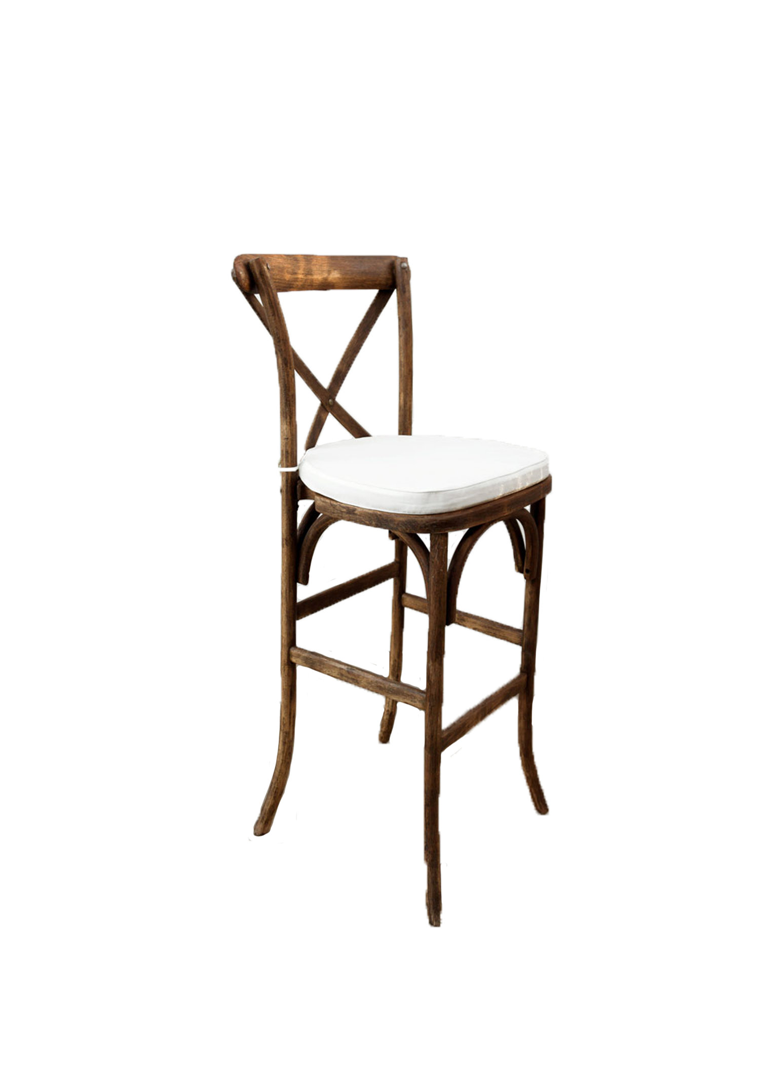 Mahogany High Cross-Back Chair