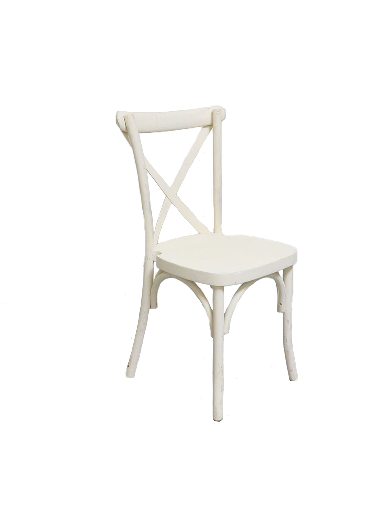 White Cross-Back Chair