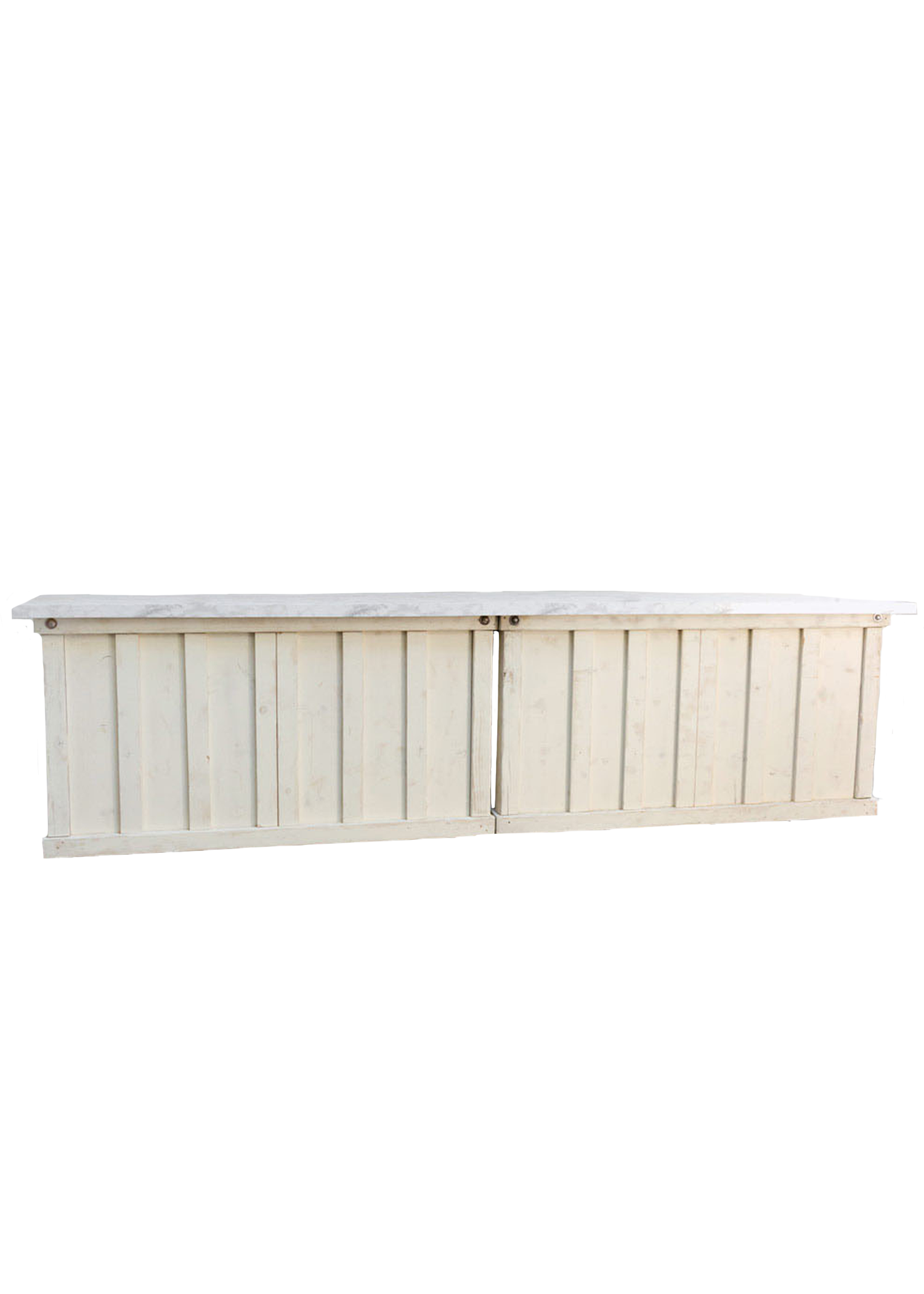 2 Vintage White 6ft Bars with Faux Marble Top