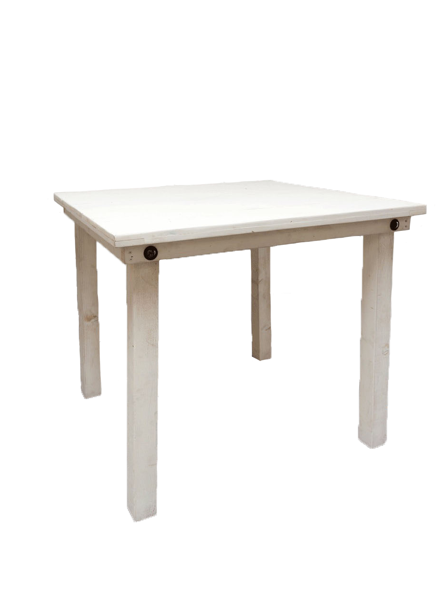 Vintage White 4ft x 4ft Square Belly Table