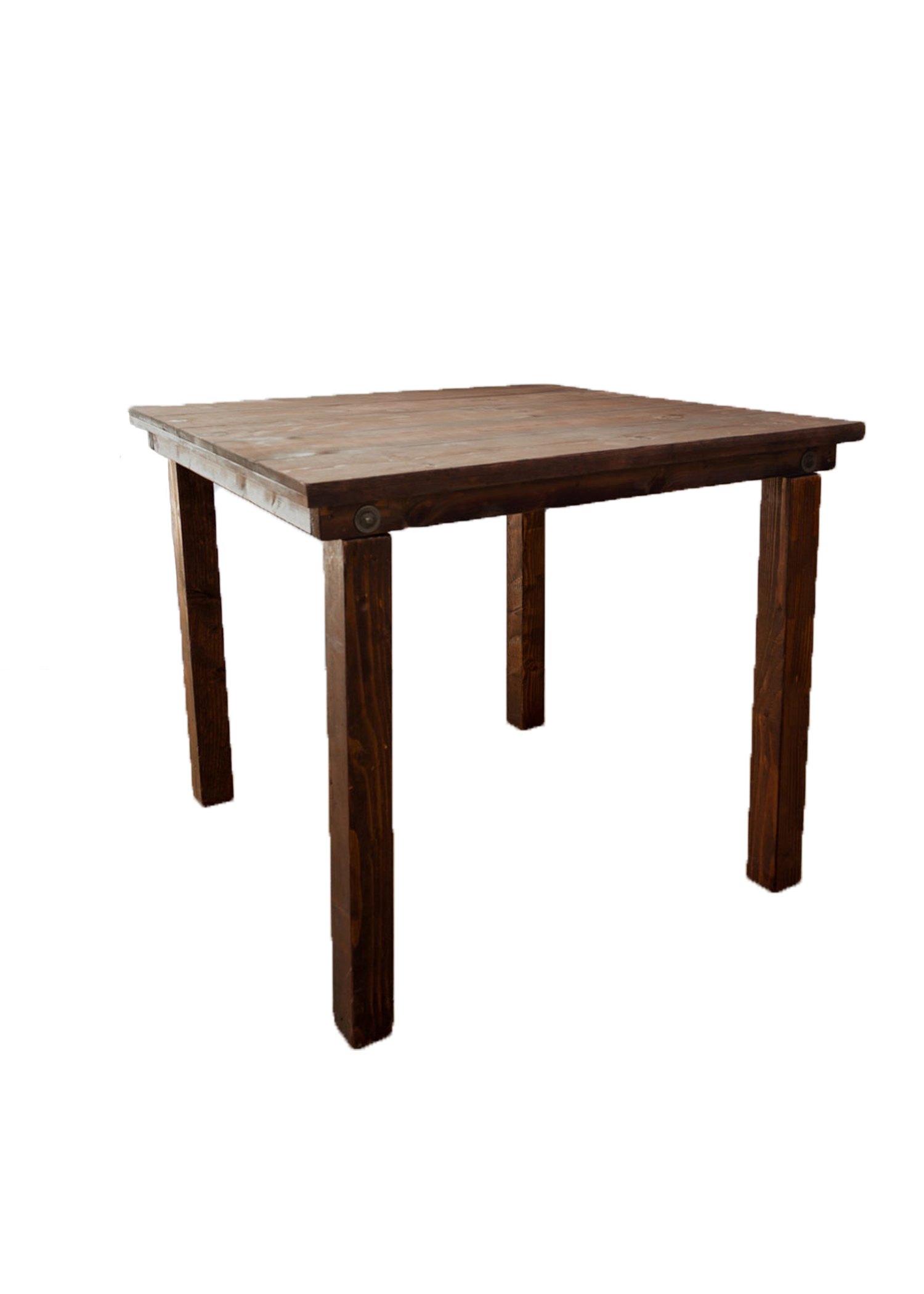 Mahogany 4ft x 4ft Square Belly Table