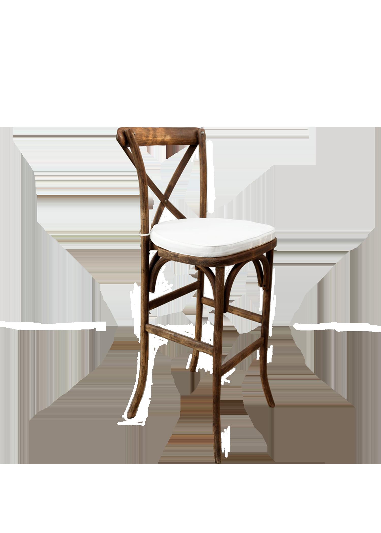 Mahogany High Cross-Back Chair
