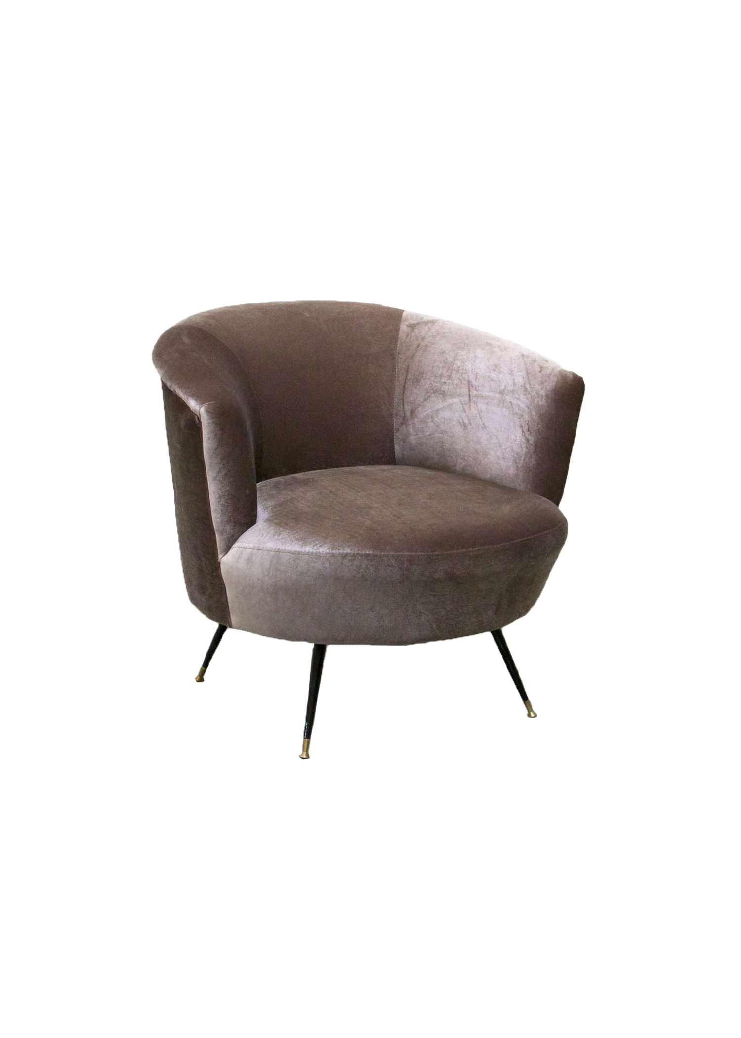 Velvet Grey Lounge Chair