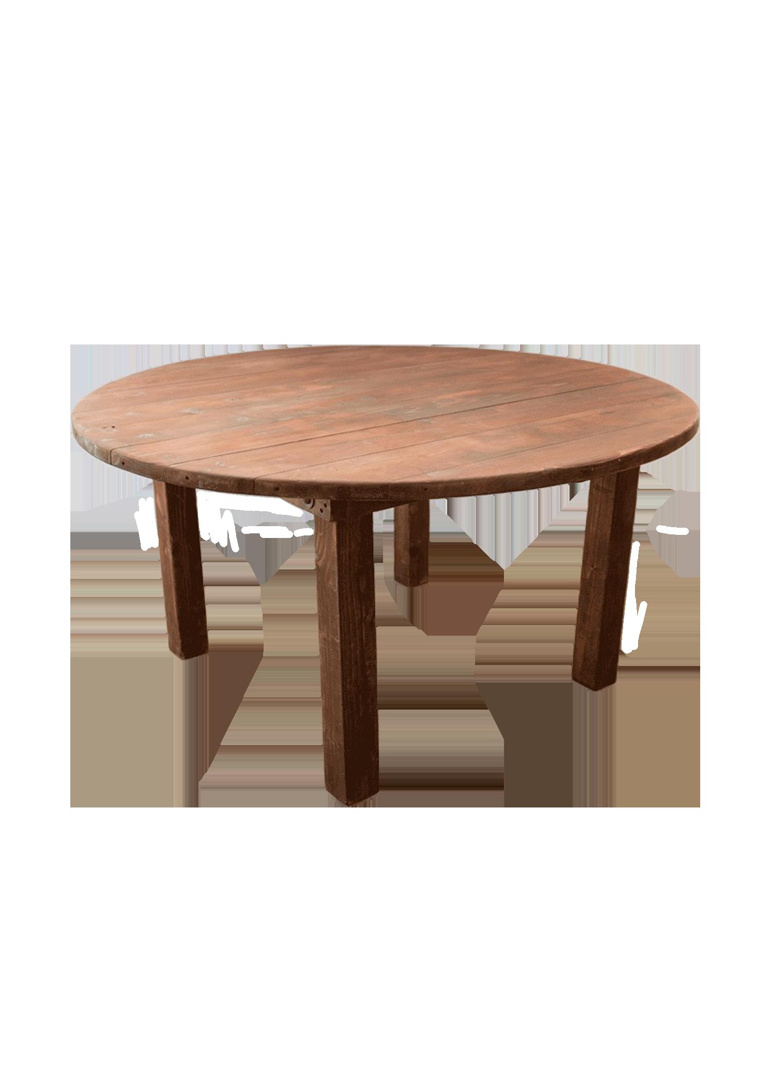 Honey Brown Round Farm Table