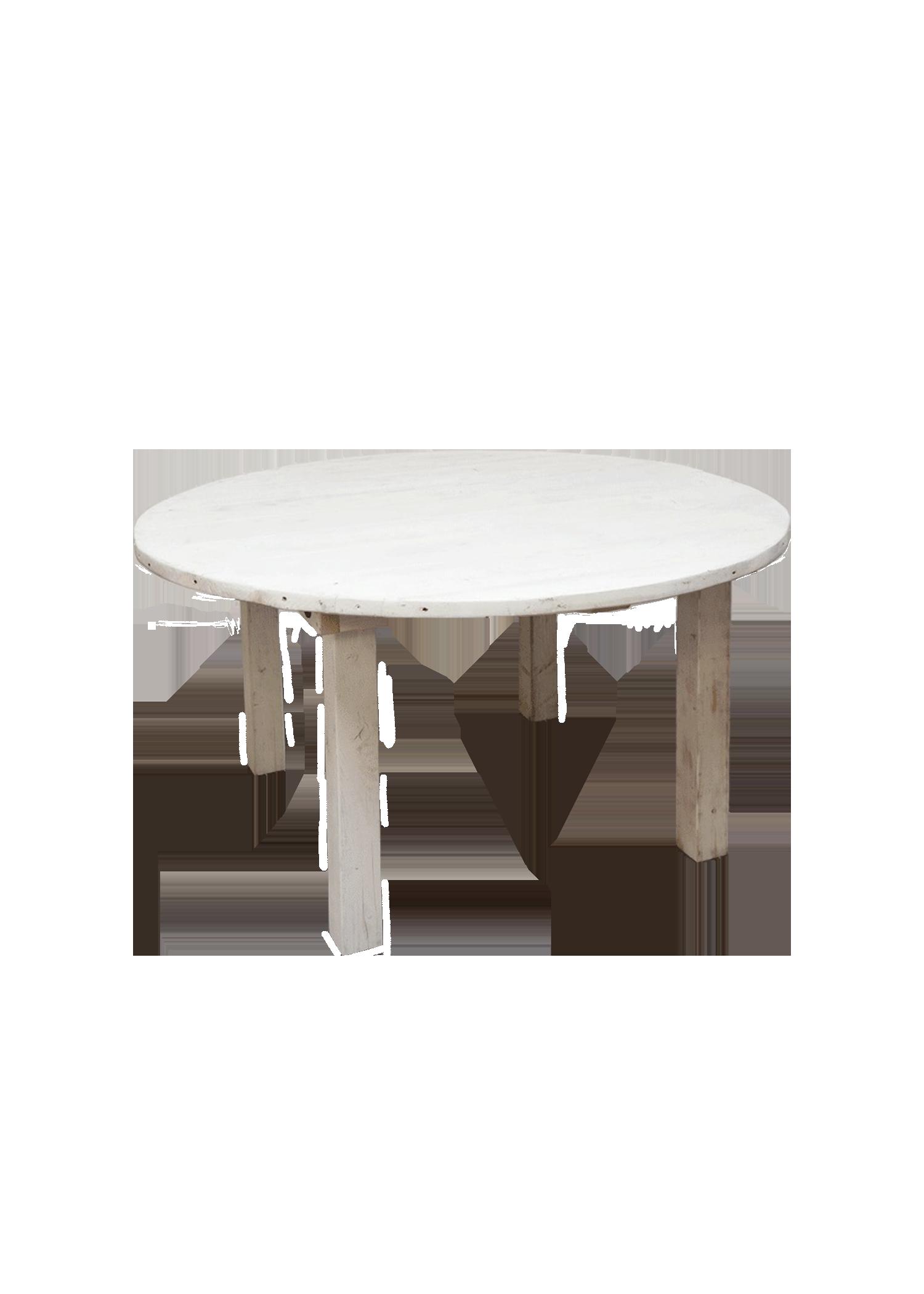 Vintage White Round Farm Table