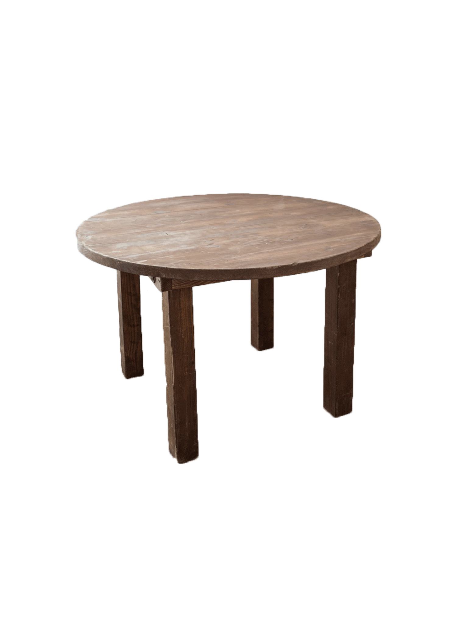 Mahogany Round Farm Table