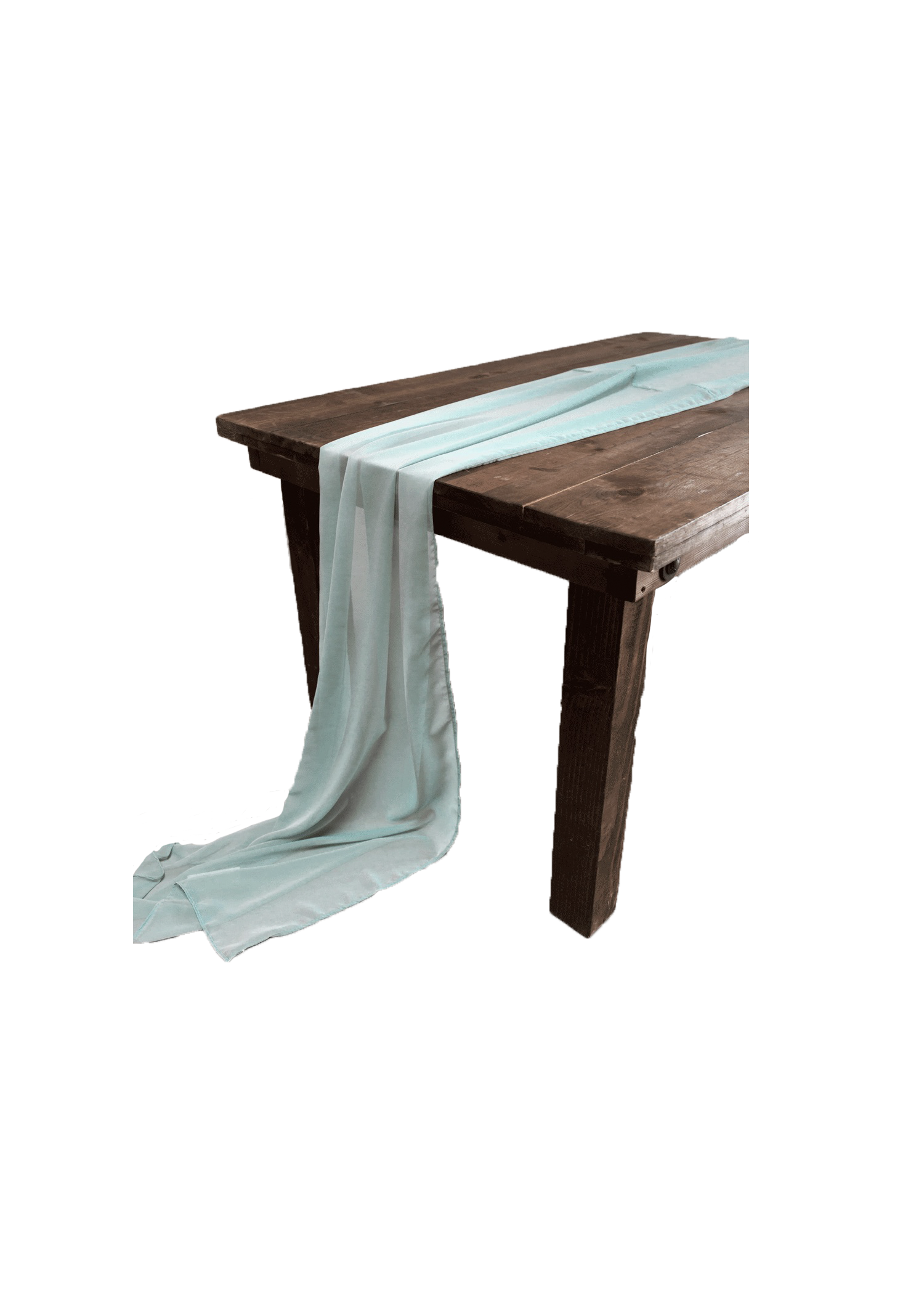 Sea Foam Chiffon Runner