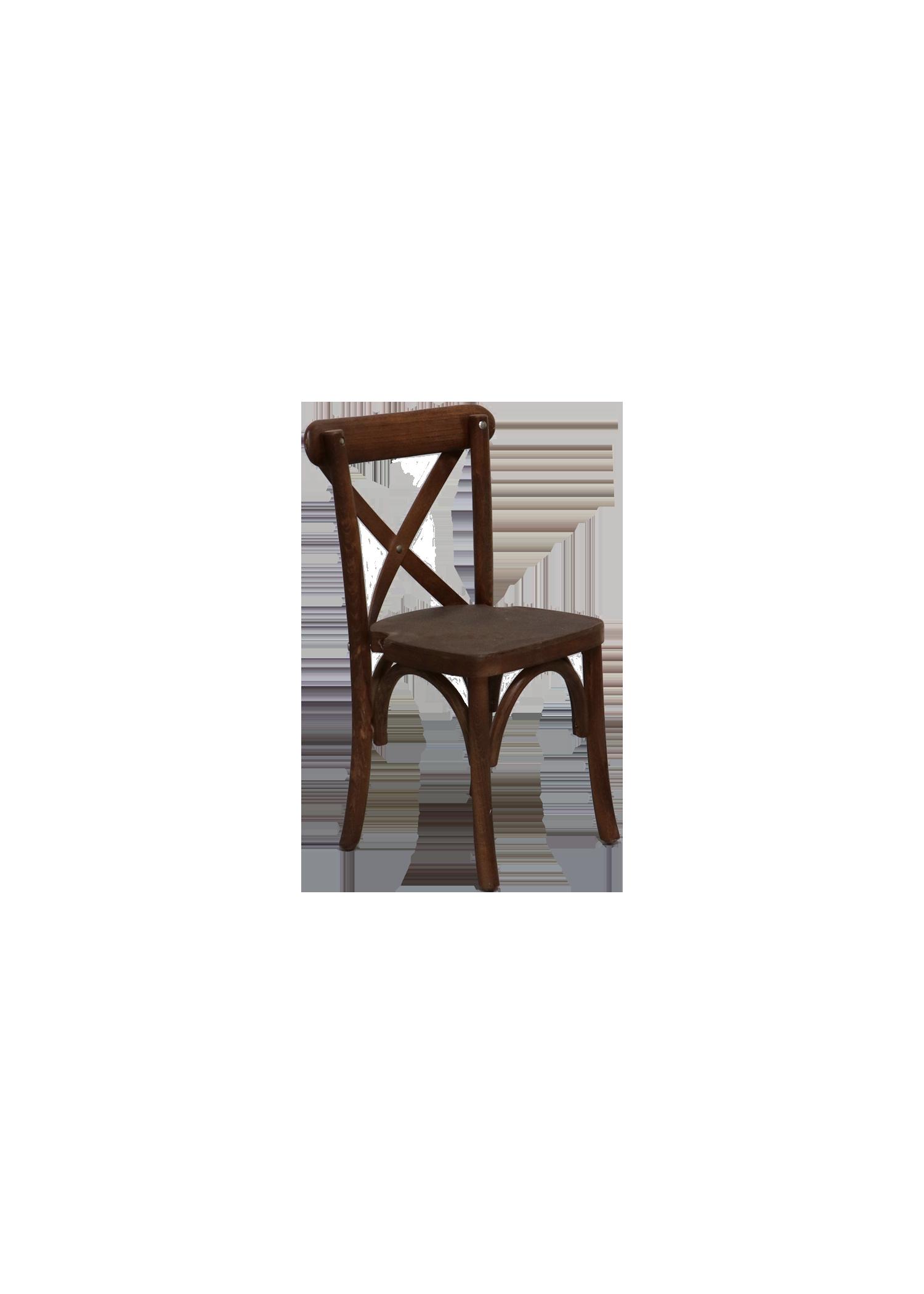 Kid's Mahogany Cross-Back Chair