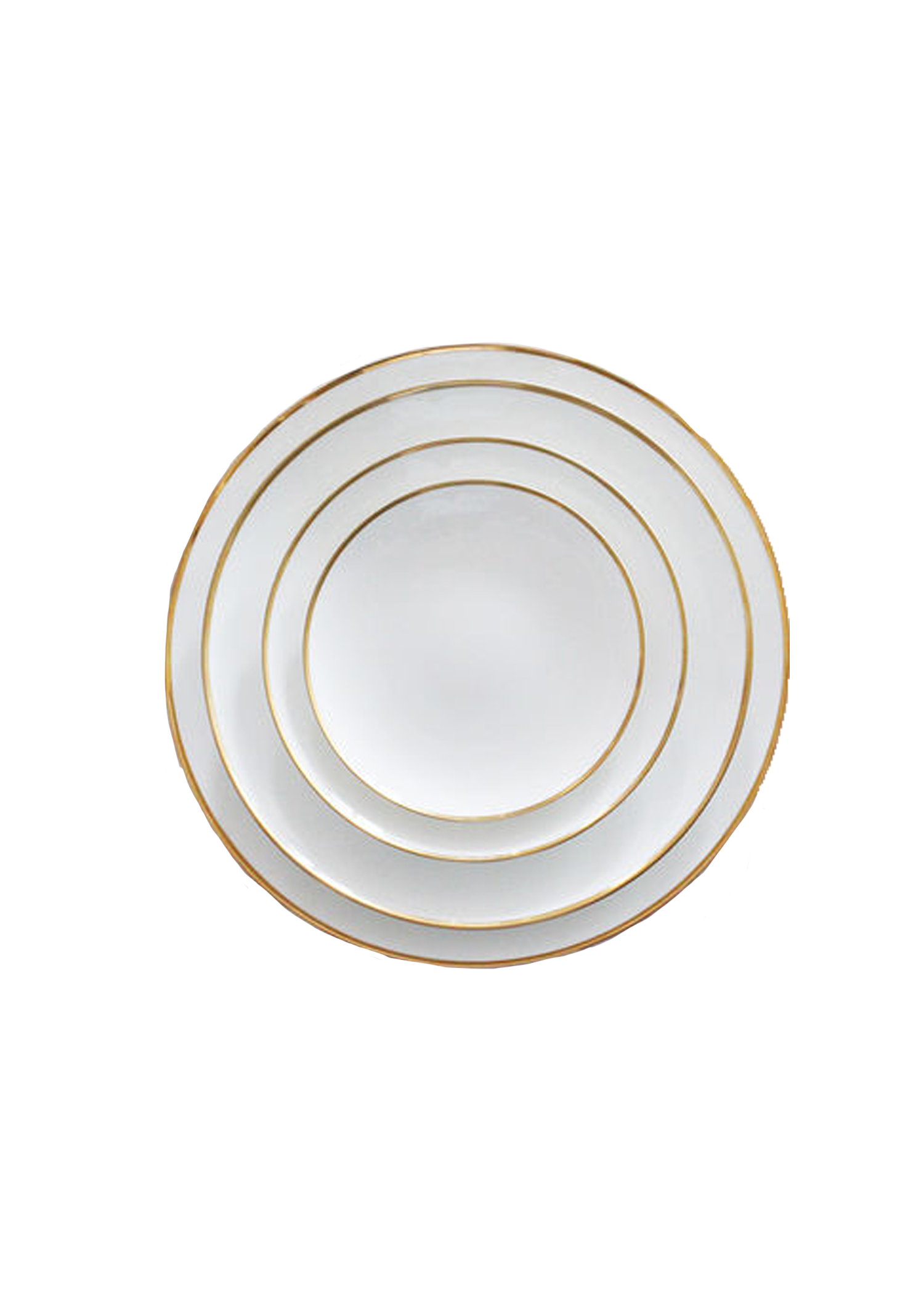White Plates with Gold Edge