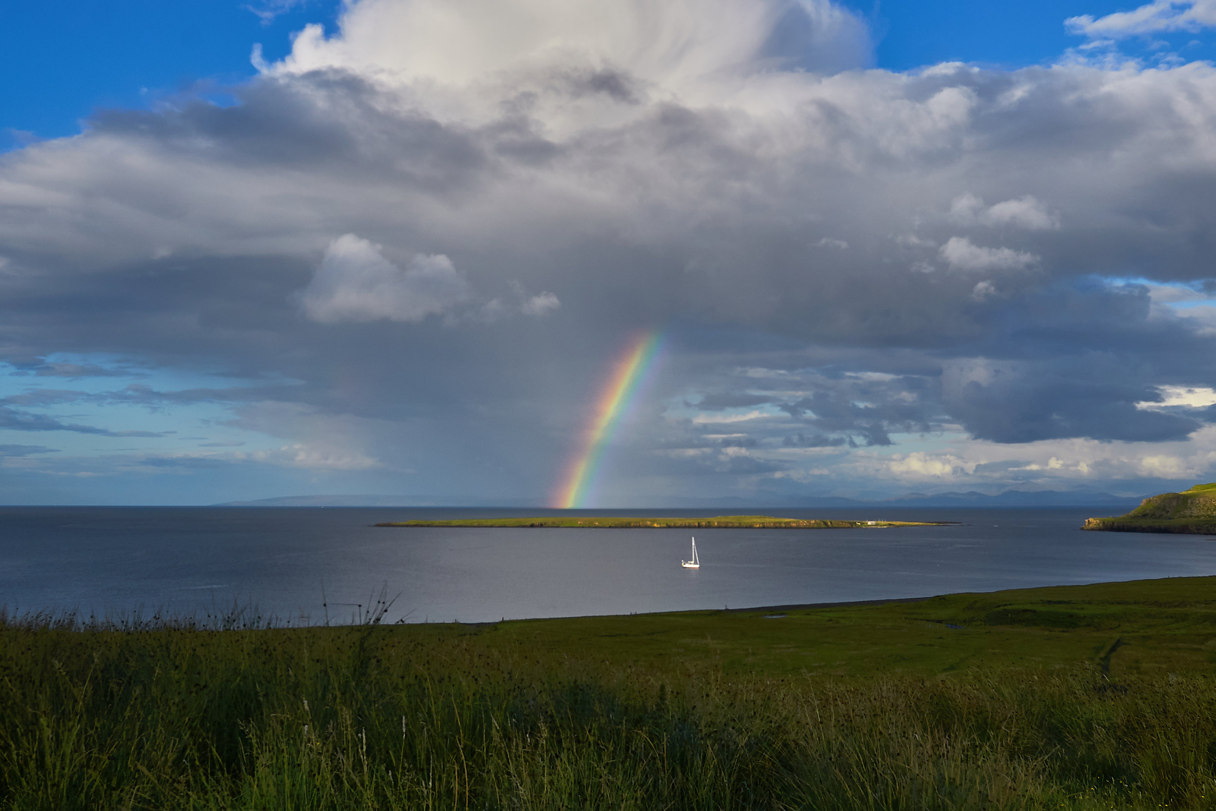 One of many rainbows found on Scotland's Isle of Skye that remind us of hope.