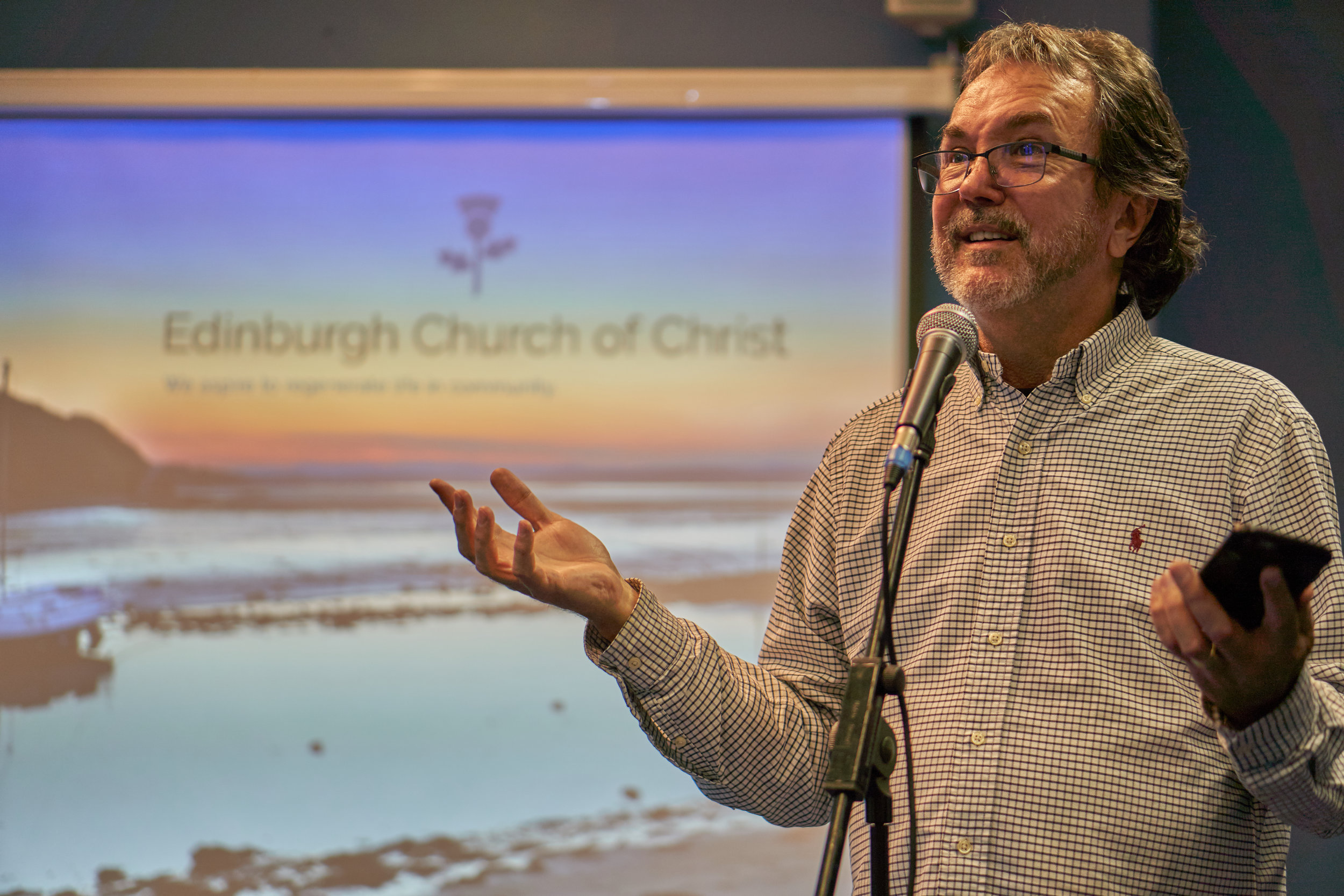 Sherwin teaches the Edinburgh Church of Christ that God sings to us and in God's eyes, all of us are singers, too.