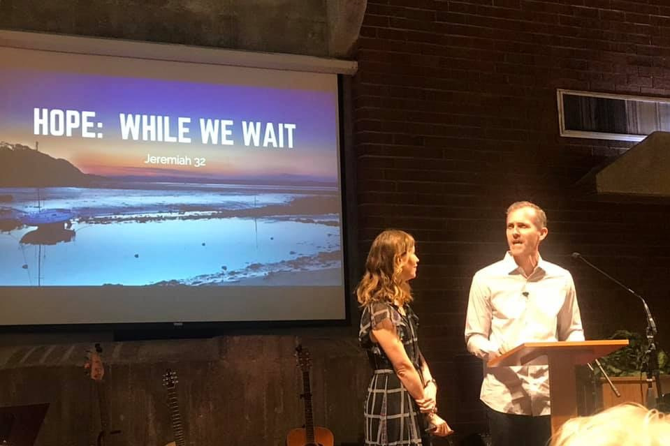 """While We Wait"" lesson at the CampusView Church in Gainesville (FL) April 2019."