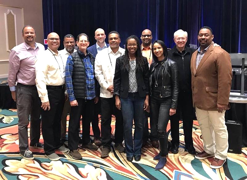 Dr. Richard Rodriguez (third from left) with the Diversity Team that seeks to stimulate unity in our family of churches. Rocko, as he's affectionately known, initially released excerpts of his book on Gordon Ferguson's website. (Gordon is pictured second from right.)