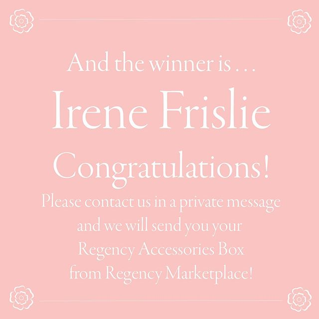 You won! You won, Irene Frislie!! Congratulations 🎉🎊🎈 We're so happy for you (and maybe a little bit jealous 😉 —this is an awesome prize!). Thank you again to @regency_marketplace and to all who participated.  To receive your prize, Irene, please contact us in a private message.