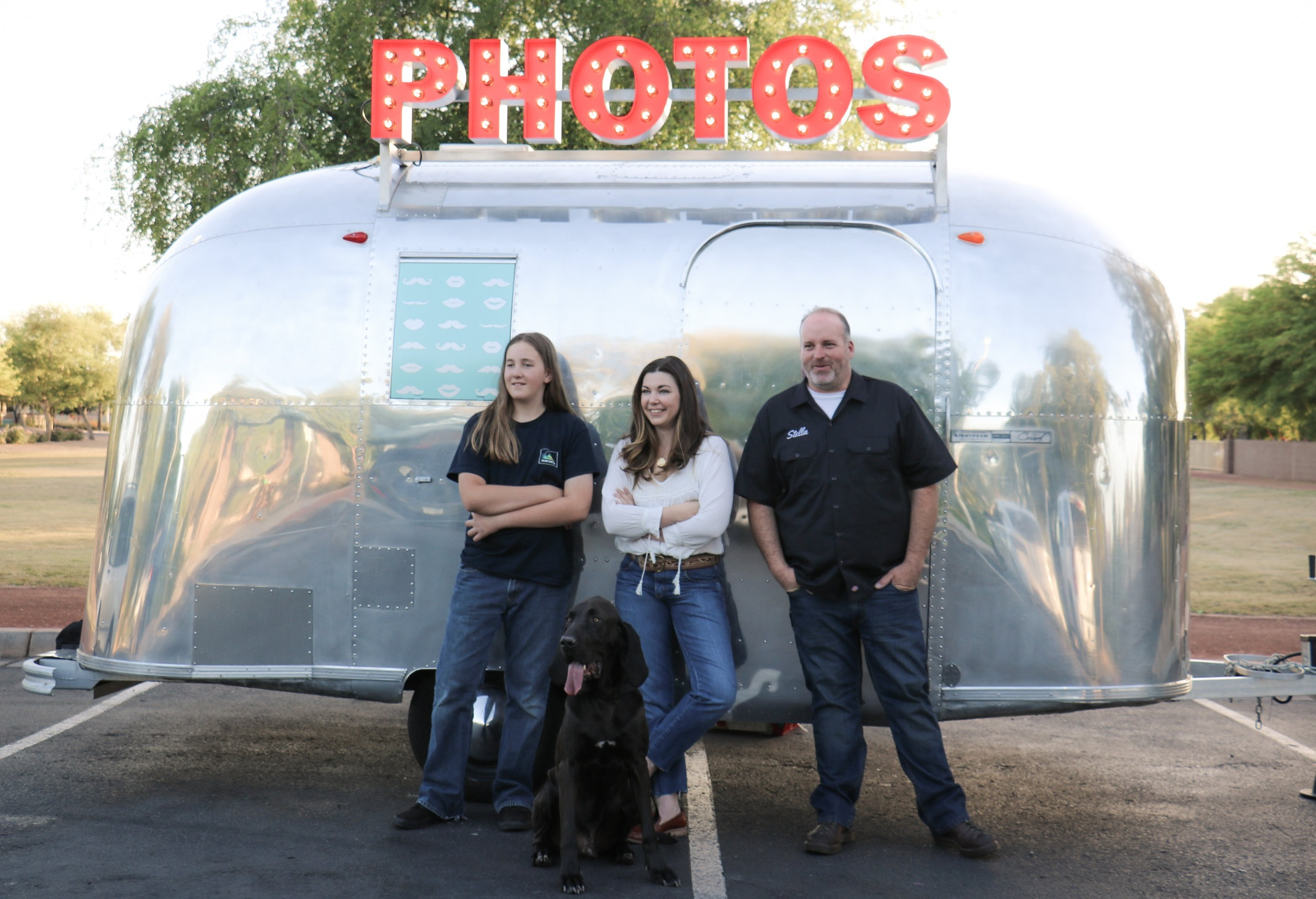 MEET THE MAKERS - Phillip and Brandi Walsh, their son Pearce and bloodhound Roscoe