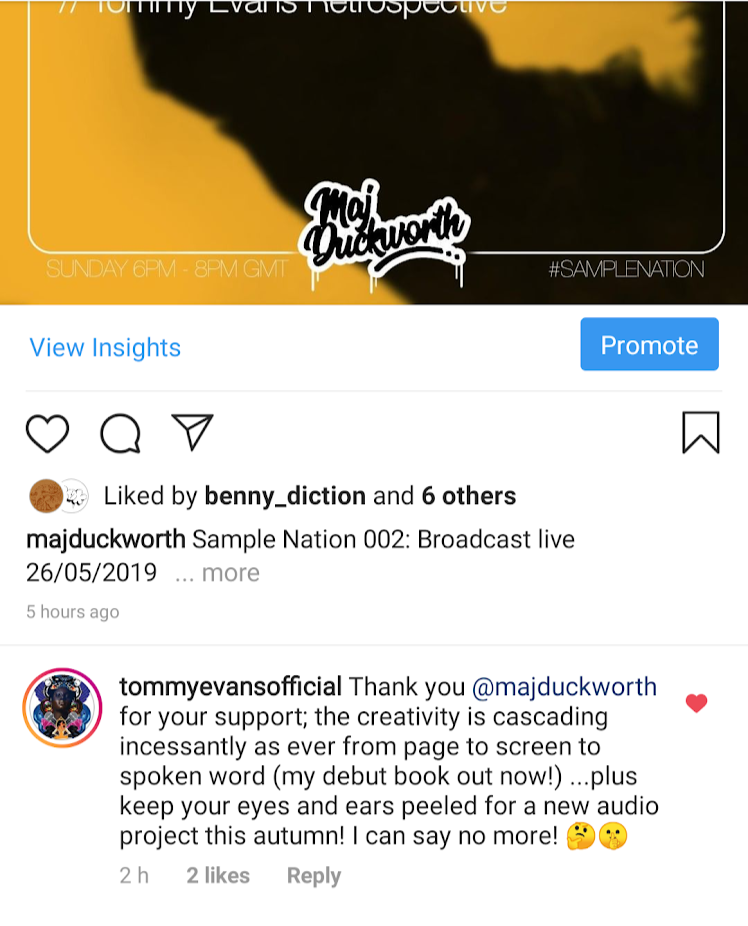 Tommy Evans Thanks Sample Nation