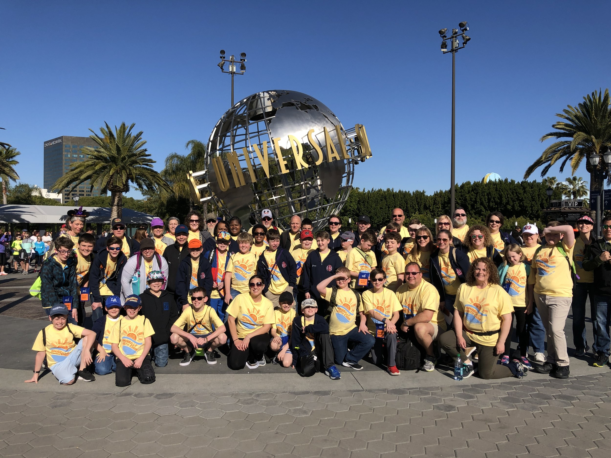 Universal Studios, Los Angeles - Amarillo Boy Concert Choir 2019 Tour