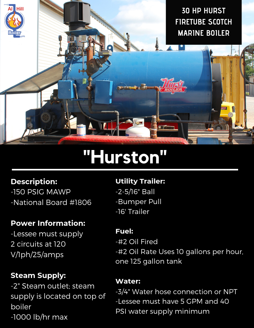30 HP Firetube Scotch Marine Boiler